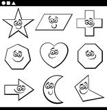 Página geométrica básica del colorng de las formas stock de ilustración
