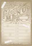 Página gráfica do vintage para o restaurante ilustração stock