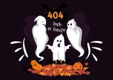 Página Halloween de 404 errores imagenes de archivo