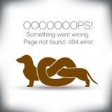 Página inusual del error 404 no encontrada gráfica Fotos de archivo