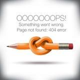 Página inusual del error 404 no encontrada gráfica Imagenes de archivo