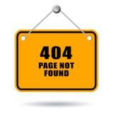 Página 404 não encontrada Imagem de Stock