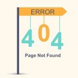 Página não encontrada, erro 404 Fotografia de Stock Royalty Free