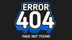 página no encontrada del azul de 404 errores Imagen de archivo libre de regalías