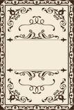 Página ornamentado do redemoinho Fotografia de Stock Royalty Free