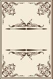 Página ornamentado dos rococós Fotos de Stock