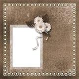 Página para a foto ou o convite Imagens de Stock