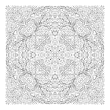 Página para los adultos - diseño auténtico floral de la alfombra, alegría a más viejos niños y colorists adultos del cuadrado del stock de ilustración