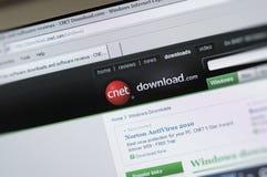 página principal do intenet de CNET.com Fotografia de Stock Royalty Free