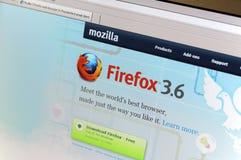 página principal do intenet de Firefox.com fotos de stock