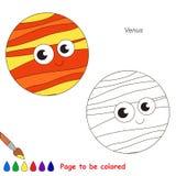 Página que se coloreará, juego simple de la educación para los niños Fotografía de archivo libre de regalías