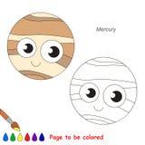 Página que se coloreará, juego simple de la educación para los niños Foto de archivo libre de regalías