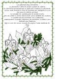 Página tirada mão da coloração da coroa do advento ilustração royalty free