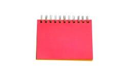 Página vermelha do caderno Imagens de Stock