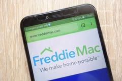 Página web de Freddie Mac exhibida en un smartphone moderno fotografía de archivo