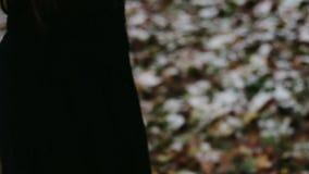 Páginas ardientes de la muchacha gótica del libro almacen de metraje de vídeo