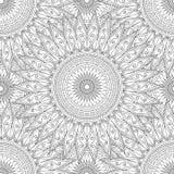 Páginas da coloração para adultos Mão decorativa do vetor decorativo da onda da natureza da garatuja teste padrão sem emenda esbo Fotografia de Stock Royalty Free