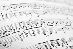 Páginas das folhas de música imagem de stock