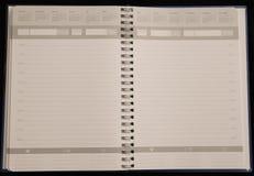 Páginas de organización del libro Imagen de archivo libre de regalías
