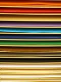 Páginas de papel da cor Fotografia de Stock