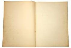 Páginas de papel velhas. Foto de Stock