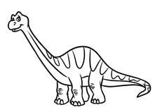 Páginas del colorante del período jurásico del dinosaurio del Diplodocus ilustración del vector
