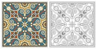Páginas del colorante, libro de colorear para los adultos, desig auténtico de la alfombra libre illustration