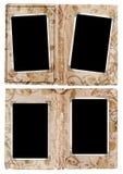 Páginas do álbum de Grunge com frames da foto Imagem de Stock Royalty Free
