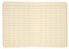 Páginas do caderno com linhas Gridded Imagem de Stock Royalty Free