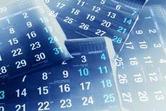Páginas do calendário Fotografia de Stock