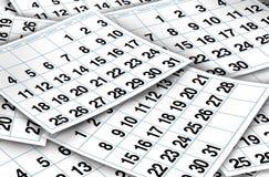 Páginas do calendário Fotografia de Stock Royalty Free