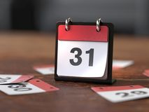 Páginas do calendário, conceito do tempo imagens de stock