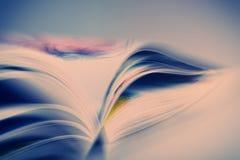 Páginas do livro aberto que reclina na tabela Imagem de Stock