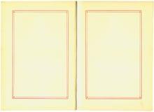 Páginas do livro da antiguidade Imagens de Stock Royalty Free