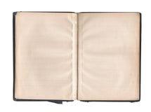 Páginas em branco no livro velho Imagem de Stock
