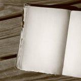 Páginas em branco no sepia fotografia de stock