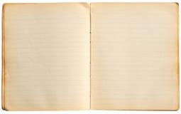 Páginas velhas do caderno fotografia de stock