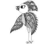 Pájaro abstracto para la página adulta del colorante Fotos de archivo libres de regalías