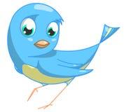 Pájaro azul stock de ilustración