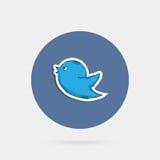 Pájaro azul del doddle Imagen de archivo