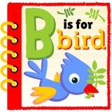 Pájaro azul en el papel Foto de archivo