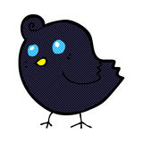 pájaro cómico de la historieta stock de ilustración