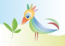 Pájaro colorido ilustración del vector