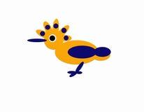 Pájaro con el peine con cresta Foto de archivo libre de regalías