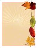 Pájaro con hojas del otoño Foto de archivo libre de regalías