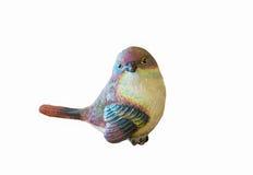 Pájaro de cerámica aislado imagen de archivo libre de regalías