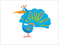 Pájaro de la historieta Fotos de archivo libres de regalías