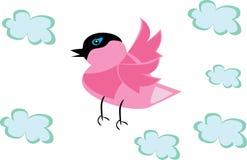 Pájaro de la historieta en fondo aislado Stock de ilustración