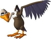 Pájaro de la historieta, halcón, buitre, aislado Imagen de archivo