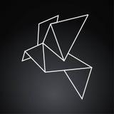 Pájaro de Origami Imagen de archivo libre de regalías